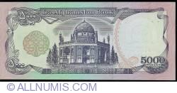 5000 Afghanis 1993 (SH 1372 - ١٣٧٢)