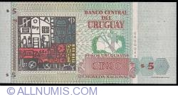 Image #2 of 5 Pesos Uruguayos 1998 - Serie A