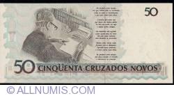 Image #2 of 50 Cruzeiros on 50 Cruzados Novos ND (1990)