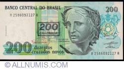 Image #1 of 200 Cruzeiros on 200 Cruzados Novos ND (1990)