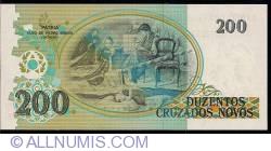 Image #2 of 200 Cruzeiros on 200 Cruzados Novos ND (1990)