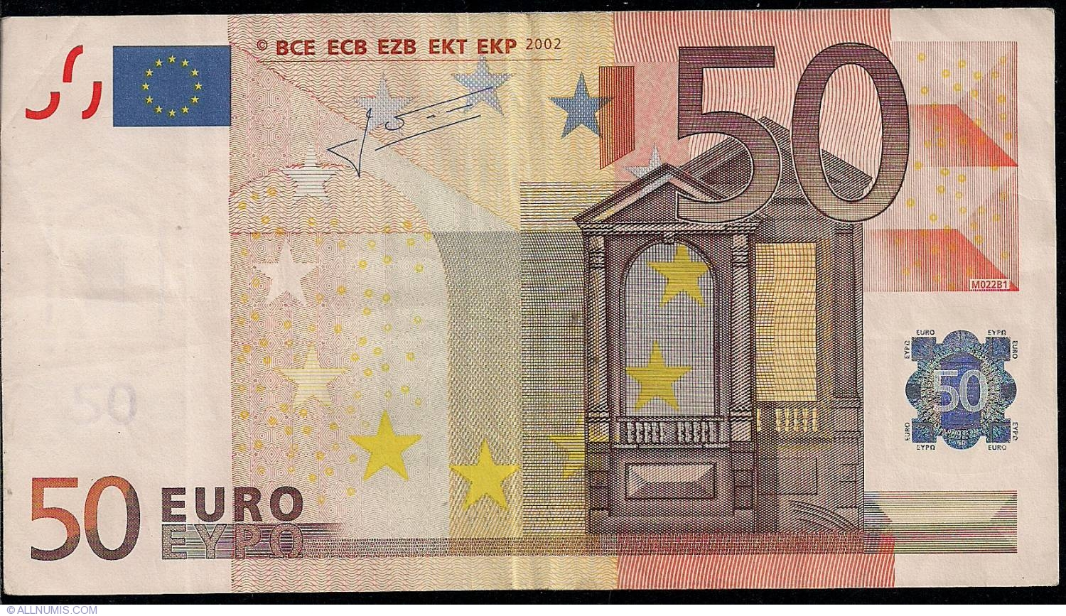 How Can You Buy Bitcoins >> 50 Euro 2002 V (Spain), 2002 Issue - 50 Euro (Signature Jean-Claude Trichet) - European Union ...