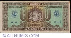 Imaginea #2 a 100000 Pengő 1945 (23. X.)