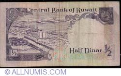 Image #2 of 1/2 Dinar L.1968 (1980)