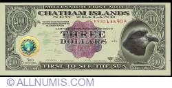 Image #1 of 3 Dollars (300 Cents) 1999 A.