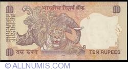 Image #2 of 10 Rupees 2009 - L