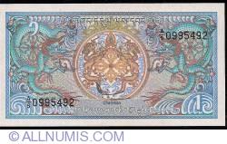 Image #1 of 1 Ngultrum ND (1990) - signature Dorji Tsering