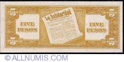 Image #2 of 5 Pesos ND (1949)