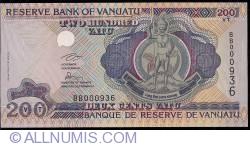 Imaginea #1 a 200 Vatu ND (2007) low serial number