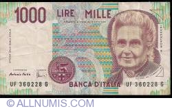 Image #1 of 1000 Lire 1990