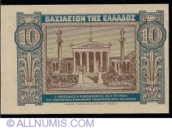 Image #2 of 10 Drachmai 1940  - wrong cut