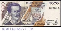 Imaginea #1 a 5000 Sucres 1999 (26. III.) - Serie AÑ