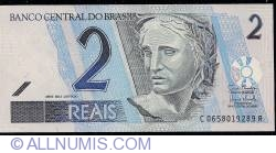 Image #1 of 2 Reais ND(2001-) - signatures Guido Mantega/ Henrique de Campos Meirelles