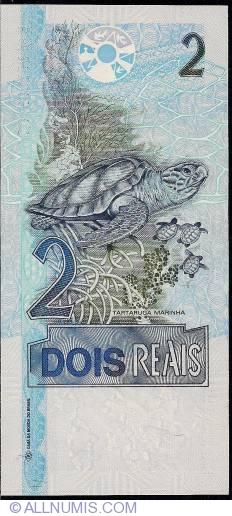 Image #2 of 2 Reais ND(2001-) - signatures Guido Mantega/ Henrique de Campos Meirelles
