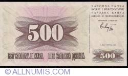 Imaginea #1 a 500 Dinari 1992 (1. VII.)