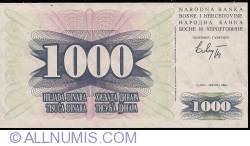 Imaginea #1 a 1000 Dinara 1992 (1. VII.)