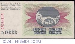 Imaginea #2 a 1000 Dinara 1992 (1. VII.)