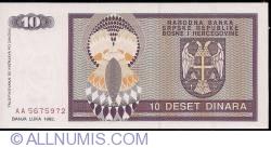 Imaginea #2 a 10 Dinari 1992
