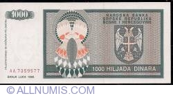 Imaginea #2 a 1000 Dinara 1992