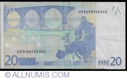 Imaginea #2 a 20 Euro 2002 - U (Franţa)