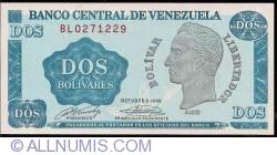 2 Bolivares 1989 (5. X.)