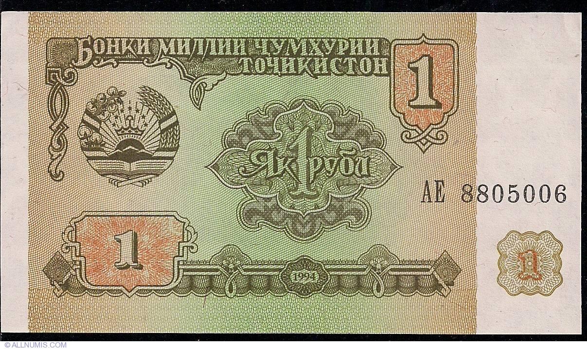 TAJIKISTAN SET 1 5 10 20 50 100 200 500 1000 RUBLES 1994 P-1 2 3 4 5 6 7 8 9 UNC