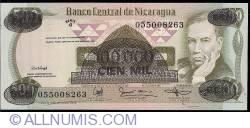 Image #1 of 100 000 Cordobas on 500 Cordobas ND (1987)