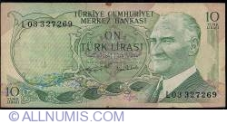 Image #1 of 10 Lira ND (1975) sign Memduh GÜPGÜPOĞLU, Naci TİBET