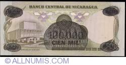 Image #2 of 100 000 Cordobas on 500 Cordobas ND (1987)