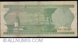 Image #2 of 10 Lira L.1970 (1975) - signatures Memduh GÜPGÜPOĞLU / Naci TİBET