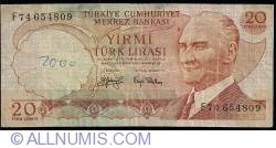 Image #1 of 20 Lira L.1970 (1974) - 2