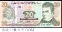 Image #1 of 20 Lempiras 2006 (13. VII.)