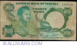 Imaginea #1 a 20 Naira ND (1984-2000) - prefixul seriei X
