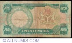 Imaginea #2 a 20 Naira ND (1984-2000) - prefixul seriei X