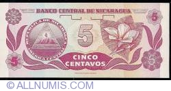 Image #2 of 5 Centavos ND(1991) - signature 1
