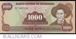 Image #1 of 1000 Cordobas 1985 (1988)