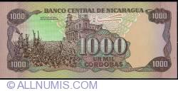 Image #2 of 1000 Cordobas 1985 (1988)