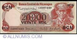 Image #1 of 20 000 Cordobas on 20 Cordobas ND (1987)