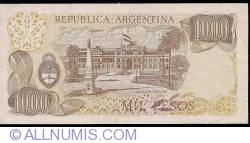 Image #2 of 1000 Pesos ND (1976-1983) - signatures Pedro Camilo López/ Egidio Iannella
