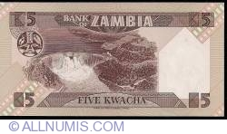 Imaginea #2 a 5 Kwacha ND(1980-1988)