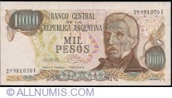 Image #1 of 1000 Pesos ND (1976-1983) - signatures Pedro Camilo López/ Egidio Iannella