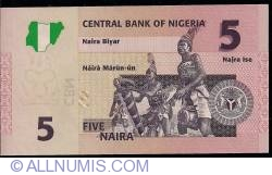 Image #2 of 5 Naira 2006 (6 digits serial)