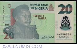 Image #1 of 20 Naira 2007 - 6 digit serial