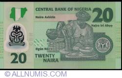 Image #2 of 20 Naira 2007 - 6 digit serial