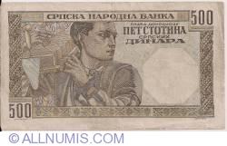 Imaginea #2 a 500 Dinara 1941 (1. XI.)