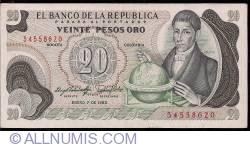 Imaginea #1 a 20 Pesos Oro 1983 (1. I.)