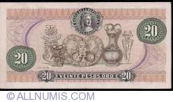 Imaginea #2 a 20 Pesos Oro 1983 (1. I.)