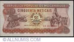 Image #1 of 50 Meticais 1986 (16. VI.)
