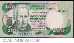 Imaginea #1 a 200 Pesos Oro 1991 (1. IV.)