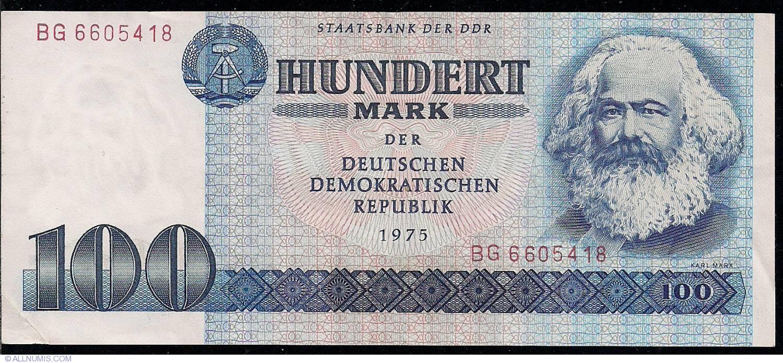 100 mark 1975 1971 1985 issue german democratic. Black Bedroom Furniture Sets. Home Design Ideas